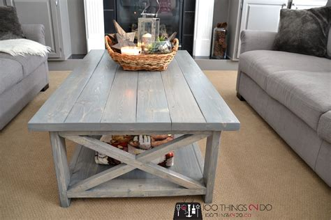 Diy Rustic Coffee Table White Bigger Rustic X Coffee Table Diy Projects