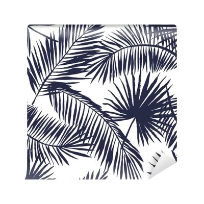 tropical pattern png palm leaves silhouette on the white background vector
