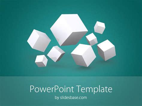 3d cubes powerpoint template slidesbase