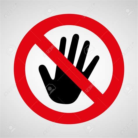 No Touching no touching clipart clipground