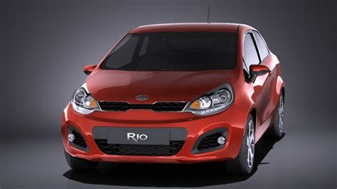 Kia 3 Door Hatchback Kia 3 Door Hatchback 2014 Vray 3d Model Cgstudio