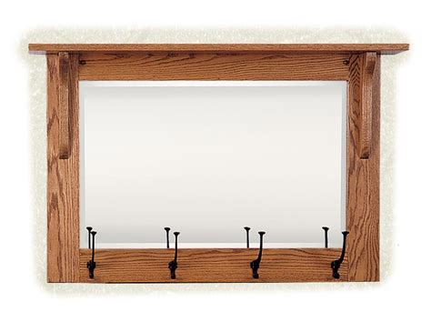 Mirror And Coat Rack by Mission Wall Mirror With Coat Rack From Dutchcrafters