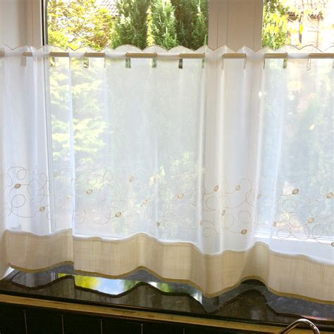 Caf 233 Net Curtains Kitchen Nets Ready Made Voile Curtain Kitchen Curtains Ready Made