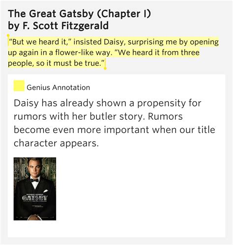flower symbolism in the great gatsby but we heard it insisted daisy the great gatsby