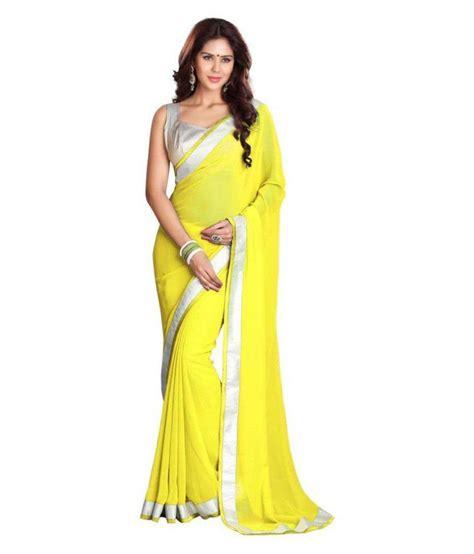 chiffon hairstyle amazia style yellow chiffon saree buy amazia style