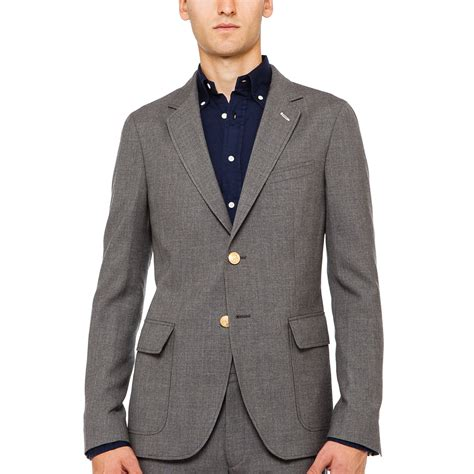 grey blazer gant rugger the hopsack blazer in gray for men grey lyst