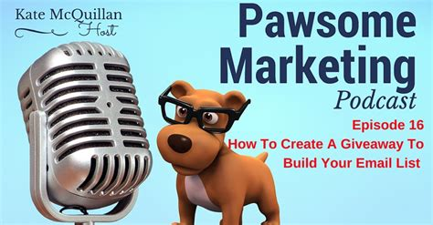 Create A Giveaway - podcast ep16 how to create a giveaway to build your email list pet business owners
