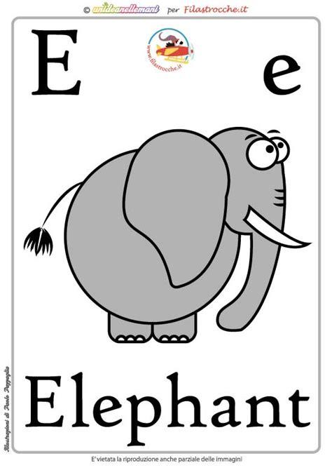 lettere di inglese schede alfabeto inglese da stare lettera e