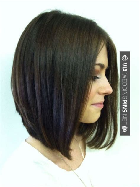 short angled bob beautiful long short hairstyles 2016 long angled stacked bob might work