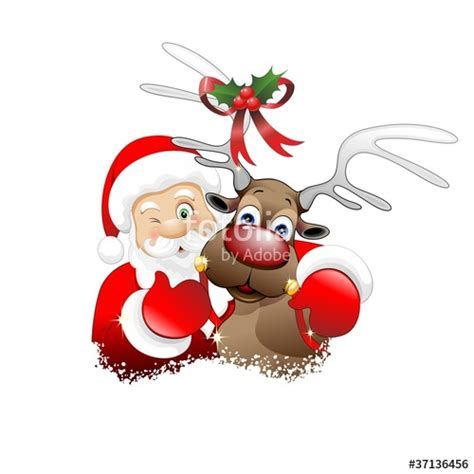 babbo natale clipart quot babbo natale e renna santa claus and reindeer