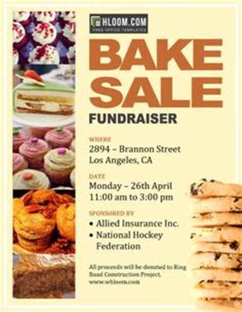 bake sale flyer free template 1000 images about sales for foundrising on