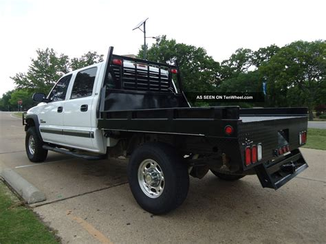 flat bed 2002 chevrolet silverado 2500hd 4x4 diesel flatbed air