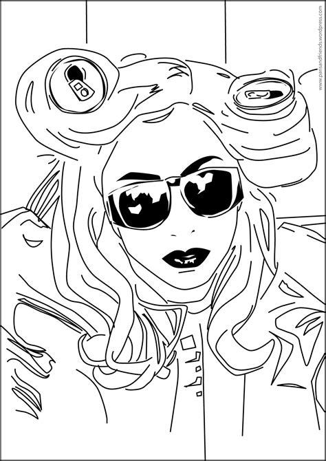 Album Lady Gaga And Aluminium Can Free Printable Coloring Gaga Coloring Pages