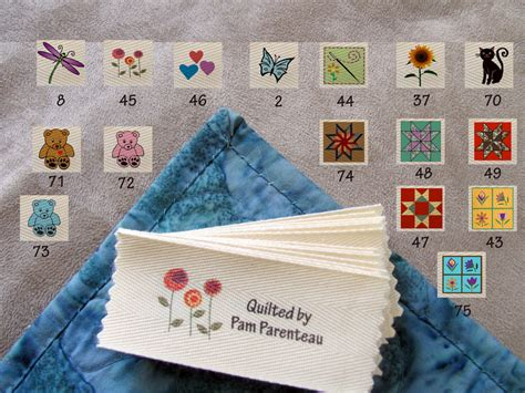 Handmade Labels For Quilts - personalized quilting labels 16 designs to by