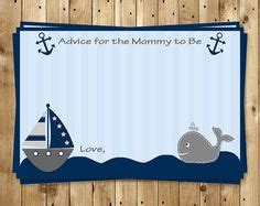 baby boy shower shower advice card 5 25x8 plaid blue printable whale template a smiling whale nautical
