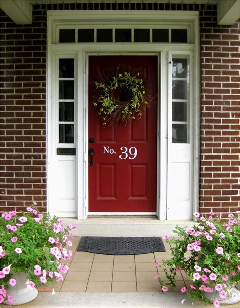 red front door to boost positive energy of your house front door red brick homes pilotproject org