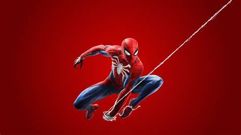 fonds decran spiderman heros  ps fond rouge jeux telecharger photo