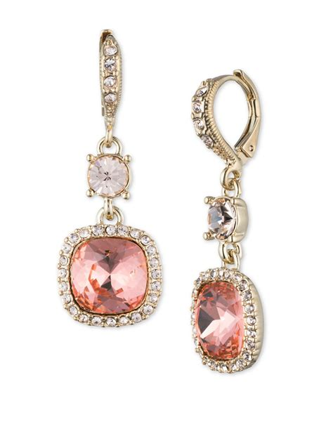 givenchy pave drop earrings in lyst