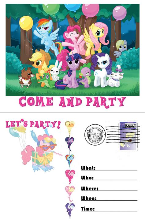 pony invitation template by moviefreaq on deviantart