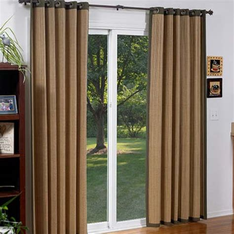 glass door curtain panels bamboo sliding glass door curtains