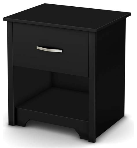 Modern Black Nightstands 1 Drawer Modern Nightstand Black Contemporary Nightstands And Bedside Tables By Shopladder