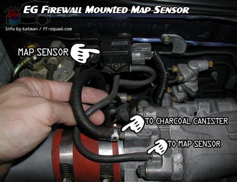 where is the map sensor on my 2000 nissan frontier 2 4l 4 cyl engine integra map sensor location integra free engine image for user manual download