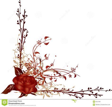 imagenes de vectores rojos vector de la esquina rojo de rose ilustraci 243 n del vector