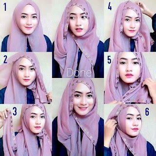tutorial segi empat velvet tutorial hijab modern cantik modis trend terbaru 2017