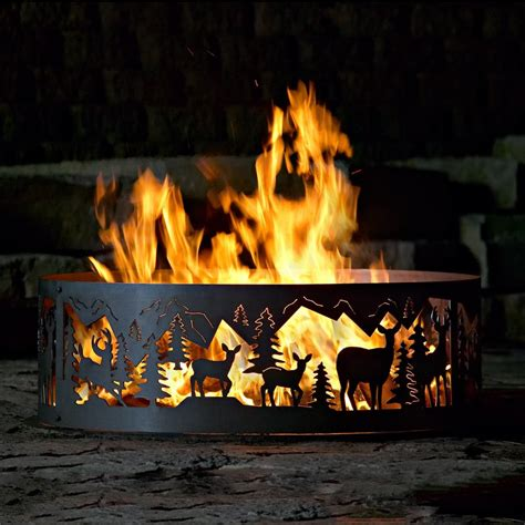 wood burning pit reviews shop p d metal works 48 in w steel wood burning pit