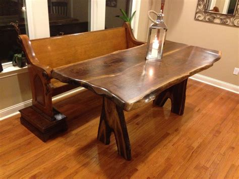 elm counter table buy handmade live edge counter height elm table with