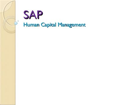 Sap Courses For Mba Hr by Sap Hr Hr Consultant
