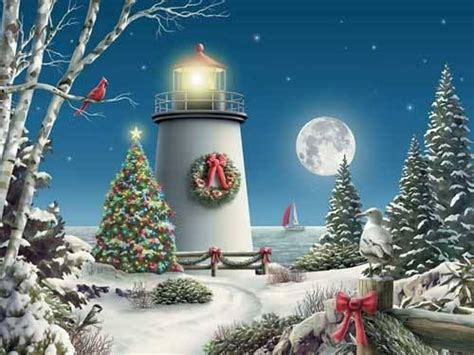 christmas lighthouse christmas merry bright pinterest