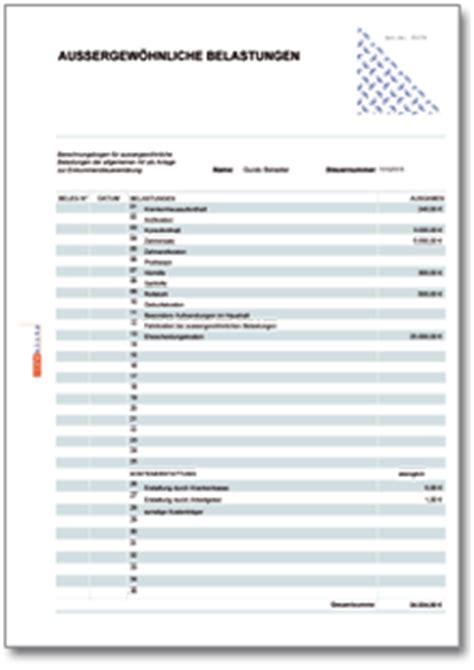 Muster Tätigkeitsnachweis Formular Rechentabelle Werbungskosten Au 223 Ergew 246 Hnliche Belastungen De Tabelle