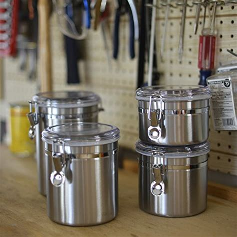 clear kitchen canisters anchor hocking stainless steel airtight canister set with clear acrylic
