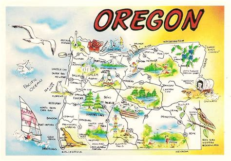 oregon map usa more postcards sts usa map oregon