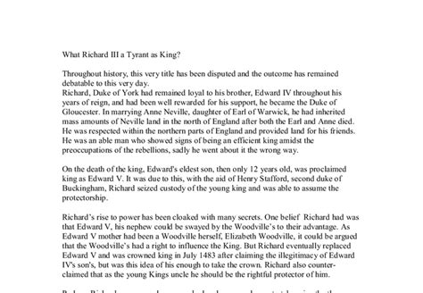 William Shakespeare Essay Topics by Essay Topics Richard Iii