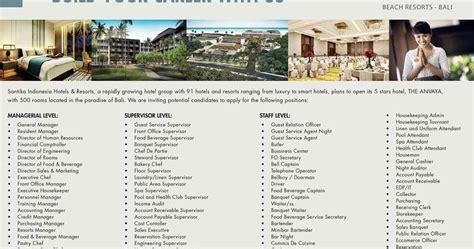 lowongan kerja design bali lowongan kerja hotel baru the anvaya beach resort bali