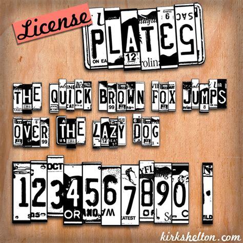 Dafont License | license plates font dafont com