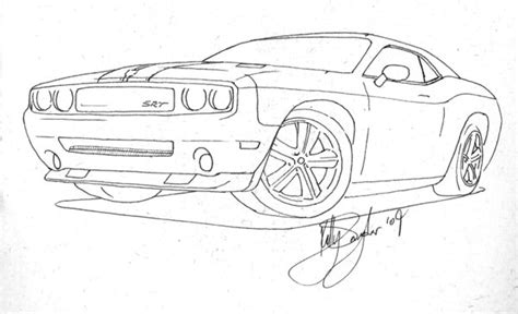 how to draw a dodge challenger drawingforall net dodge challenger coloring pages