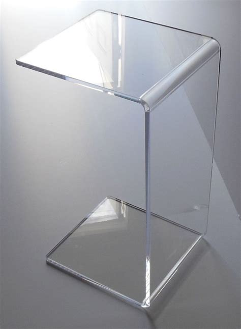 clear acrylic end table clear acrylic lucite plexiglass end slide table lucite 23