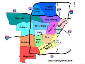 houston suburbs map inner loop area houston neighborhood map great resource