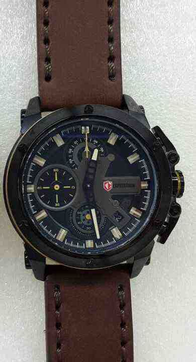 Kaos Outdoor Expedition jual expedition 6603 black steel brown leather baru jam