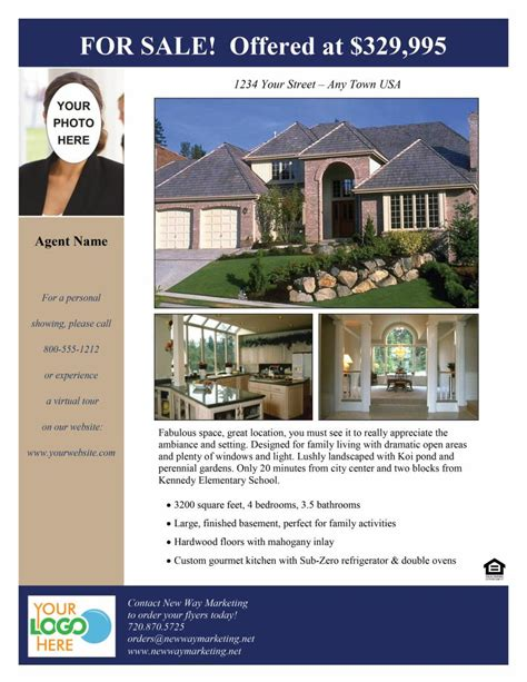 real estate listing templates house sale flyer assistant resident engineer cover letter