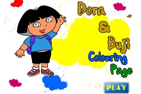 dora and buji coloring page dora the explorer buji coloring page game dora the