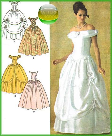 pattern for ariel blue dress simplicity 4269 cinderella fairy tale bridal wedding gown