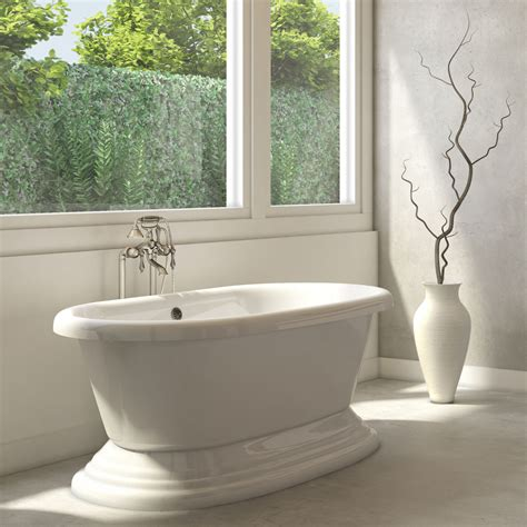 60 inch freestanding bathtub mendham 60 inch freestanding pedestal tub in white plinth
