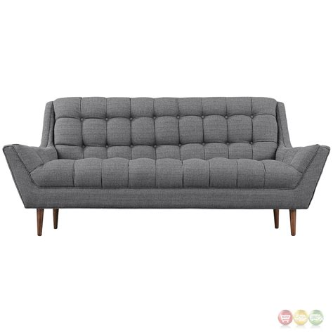 tufted loveseat gray mid century modern response contemporary button tufted loveseat gray