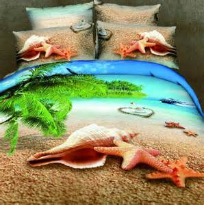 Hawaiian Print Duvet Cover Online Get Cheap Ocean Bedding Set Aliexpress Com