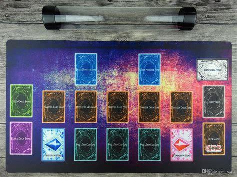 Yugioh Mat Card Zone Template by Yugioh Custom Playmat Master Rule 4 Link Zones Tcg Mat