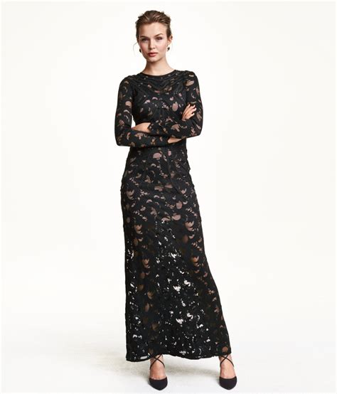 Hnm Dress h m black maxi lace dress dresscodes